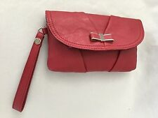 """ELLE 5X8.5"""" Red Purse Clutch Bag w 5 Compartments"""