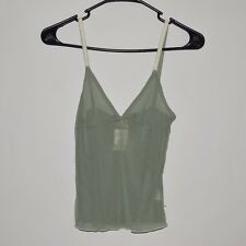 NWT Hollister Women's Nylon Tank Top Blouse Cami Shirt Olive Small