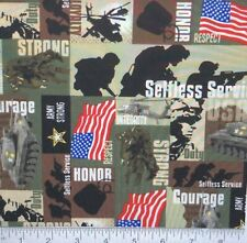 US Army 100% cotton fabric - by the yard print #05 - QOV Military Army MDG