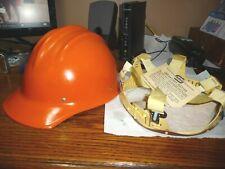 Original Orange Bullard 502 Fiberglass Hard Boiled Hard Hat With Suspension