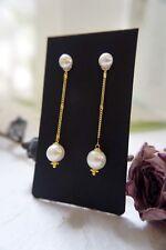 HANDMADE! Genuine Pearl Earrings 20210