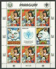 EC185 1982 PARAGUAY ART ANIMATION CAT PUSS IN BOOTS MICHEL 19 EURO 1KB MNH