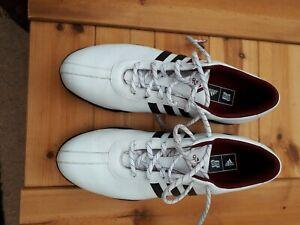 Womens Adidas golf shoes. size UK 7.5. White leather.