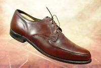 Vtg Hanover Brown Leather Moc Toe Casual Derby Blucher Oxford Shoes Mens 11 E/C