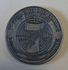 7th Special Forces Group Airborne Silver Toned Army Challenge Coin Sil_CCC