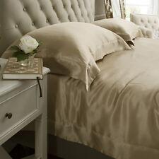 Jasmine Silk 3PCs 100% Charmeuse Silk Duvet Cover Set (Taupe) DOUBLE