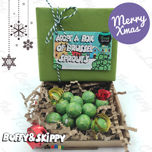 Christmas Chocolate Brussel Sprouts Stocking Filler Novelty gift ADOPT A SPROUT