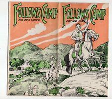 Early 1900s Follows Camp, San Gabriel Canyon, California brochure