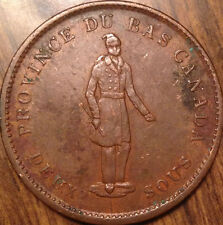 1837 LOWER CANADA ONE PENNY TOKEN CITY BANK OUTSTANDING HG BEAUTY