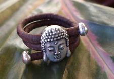 * Kork Ring Buddha * verstellbar! Vegan Cork portugiesisch Hippie Coachella Goa
