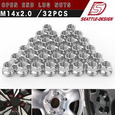 32 Chrome Open End 14x2.0 Lug Nuts Acorn for Ford F-250 Super Duty 8-Lug Wheels