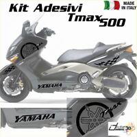 SET COMPLETO ADESIVI CARENA NERO FITS YAMAHA T-MAX 500 01-07