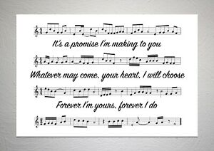 Ruelle - I Get To Love You - Song Sheet Print Poster Art
