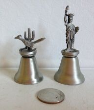 Pewter~Statue of Liberty(1) & Road Runner(1)~Small Bells~EUC