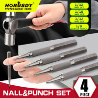 "4 Piece Nail Setter & Center Punch Set 4""  Wood Metal Super Impact Resistance S2"