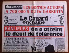 Le Canard Enchaîné 12/06/1991; Les bonnes actions  à 700000 $ du Dr Garretta