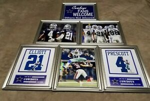 Dak Prescott Ezekiel Elliott Dez Bryant Dallas Cowboys Framed 8x10 Jersey Photo