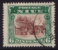 Niue fine used 1920 six pence stamp. SG no. 42