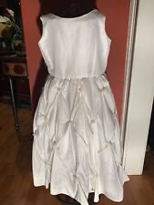 Tip Top USA Girls Sz.8 White Pearl Accent Bridesmaid Special Occasion Dress