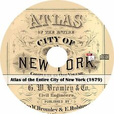 1879 Atlas of the Entire City of New York- NY Plat Maps Book on CD