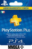 PLAYSTATION PLUS Abbonamento 3 Mesi - 90 GIORNI Sony PSN PS4 PS3 PS Vita - IT