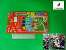 Stock 15 Pacchi di Colori Faber Castell Pastelli Matita da 12 + 6 con Temperino