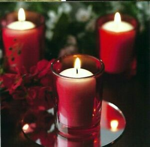 """12-""""Premium"""" Brand Votive Holders-& 12 Votive Candles In This Deal~3~Colors-WOW!"""