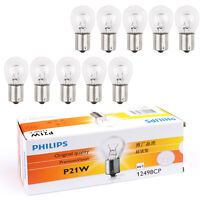 10 PCS Philips P21W Premium Automotive Lighting Clignotants Lampe 12V 21W 12498