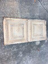 """24"""" X 48"""" Antigue / Vintage Tin Ceiling Tile Framed Design"""