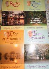 LOT 4 LIVRES VIGINIA C ANDREWS TOME 1 2 3 4 FAMILLE LANDRY RUBY PERLE OR JOYAU