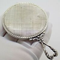 Vintage Solid Silver Italian Made Elegant Purse Mirror, Hallmarked