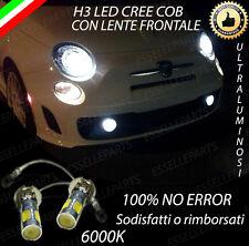 LAMPADE FENDINEBBIA H3 LED CREE COB CANBUS FIAT 500 CINQUECENTO 6000K NO ERROR