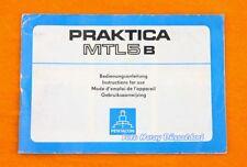 Praktica MTL 5b le istruzioni tedesco U. altra lingua 02075