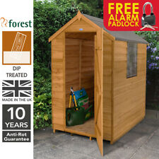 Forest 6x4 Wooden Apex Timber Garden Shed Storage Store Treated Free Padlock
