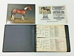 Thoroughbred Horse Breeding Records Folder & Photo Card of Stanhopes Diddicoy
