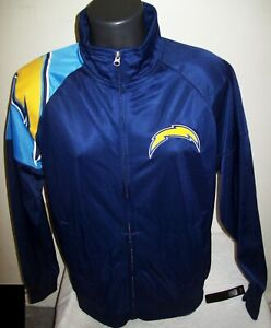 LOS ANGELES CHARGERS Full Zip Track Jacket BLUE  M L XL 2X