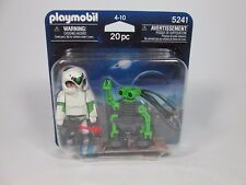 2012 Playmobil 5241 Space Astronaut + Robot Figure NEW In Package