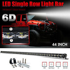 "CoLight 42"" 44"" Single Row Slim LED Light Bar Strong Beam for Winter Fog Snow"
