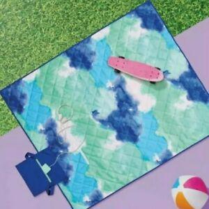 Sun Squad Blue Summer Foldable Picnic Beach Blanket NEW