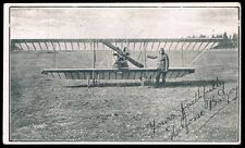 c1914 • Unused b&w postcard with portrait of pioneer aviator Delfosse Badgery
