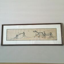 Vintage Outsider Art Painting Drawing Signed White Eagle
