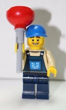 Retired Lego Plumber Joe Mini Figure with Plunger included