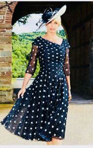 Condici 70931 Navy Spot Size 12 Mother Of The Bride / Wedding  Outfit