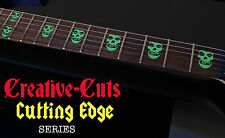 Green Hell Crimson Ghost Misfits Skull GREEN Inlay Stickers for BASS and GUITAR