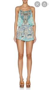 Camilla Franks Topaki Thread Shoestring Silk Playsuit Size 2 Medium $4 EXPRESS