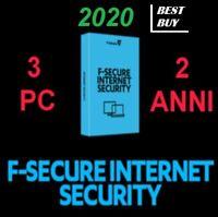F-Secure Internet Security 2020 2 Anni (1/3) Computer 24 MESI  ANTIVIRUS fsecure