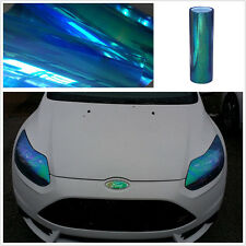 "Car SUV Headlight Tailight Tint Vinyl Film Cover 12""x78"" Chameleon Colorful Blue"