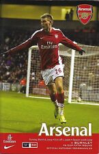 Football Programme>ARSENAL v BURNLEY Mar 2009 FAC