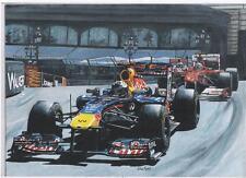 Sebastian Vettel, Monaco GP 2011 art print
