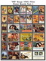 Film Poster Packs for Model Railway 1930's to 1980's - OO Gauge 4mm